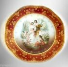 Royal Vienna art plate with gold and victorian angel scene - FREE SHIPPING