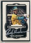 RICKEY HENDERSON 2014 Topps Museum Collection BLACK FRAMED METAL AUTO 5 A's HOF