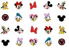 20 Mickey Mouse and friends Heads, Disney, Nail Art, Waterslide, decal, stickers