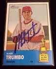 MARK TRUMBO 2012 TOPPS Autographed Signed AUTO Baseball Card 211 ANGELS