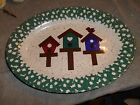 BIRD HOUSE PLATTER - GREEN / BLUE / MAROON / /WHITE / BLACK