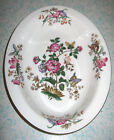 Wedgwood Charnwood Oval Serving Bowl England Discontinued Floral Butterfly Gold