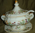 Pretty VINTAGE Grape Berry YELLOW Flower Floral ROAYL SEALY Tureen Made In JAPAN