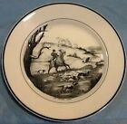 Fox Hunt Hunting Royal Cauldon Dinner Plate Black and White The Water Jump
