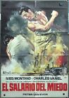 VO92 THE WAGES OF FEAR H G CLOUZOT YVES MONTAND rare 1sh SPANISH POSTER B