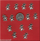 13 THE GRATEFUL DEAD Silver Tone Dancing Bear METAL Charms C11 US SELLER