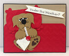 Under the Weather Dog Punch Art Stampin Up Get Well Card Kit 5 cards