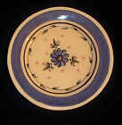 Blue and White Floral PlateHand Painted in Portugal for Villa Ceramica