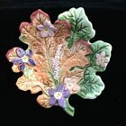 Fitz & Floyd Woodland Spring ? Leaf Shaped Candy Dish Small Plate 5 inch EUC