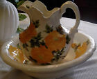 Vintage CASH FAMILY 1945 Handpainted Large Pitcher and Wash Basin, Erwin, TN
