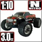 RedCat Racing Volcano S30 RTR 4WD Nitro Monster Truck Red Flame - FREE SHIPPING