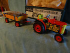 Vintage Schylling-Key Wind-Up Tractor and Trailer W / 3 Forward Gears