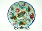 Antique Majolica Bird Of Paradise In Cherry Tree 10