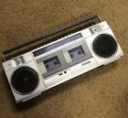 SANYO MW-1 Boombox Ghetto Blaster Dual Tape Deck Works Tested