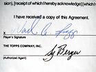 1992 WADE BOGGS Topps Autographed Baseball Card Contract Red Sox Yankees HOF