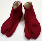 Vintage Japanese Shoes Slippers Red Corduroy Camel Toe