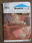 Simplicity 8475 THROW PILLOWS NECK ROLL Pattern 10 Different Styles UNCUT