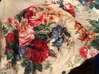 100% Cotton  Floral Bedskirt Dust Ruffle Full Size 14 inch drop