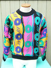 VINTAGE COOGI AUSTRALIA COSBY LOUD 100% PURE NEW WOOL SWEATER MENS SZ Small