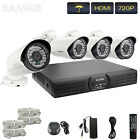 SANNCE 4CH 1080P Video Recorder Network IP Security 720P Cameras NVR System POE