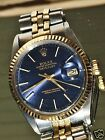 MENS 1986 14k solid gold ROLEX Datejust OYSTER PERPETUAL WATCH
