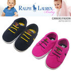 Ralph Lauren Pink Canvas Faxon Baby Girls 0 12 Shoes Sneakers SlipOn 2 3 4