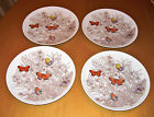 4 Fitz & Floyd Salad Plates Butterfly Garden Variations Vintage EXCELLENT!!!