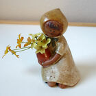 Vintage GIRL FLOWER HOLDER by UCTCI GEMPO Handcrafted Stoneware Japan