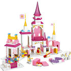 Holy Stone Toy Girl Dream Series Pink Castle Building Blocks Set Simple Package