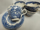 4 Cups & Saucers Salem China Old Staffordshire ENGLISH VILLAGE Ironstone