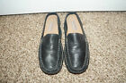 Dockers Women Slip Slide On Backless Black Leather Shoes Sz 7M 7 M