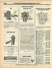 1922 ADVERT Bicycle Lamps Oil Acetylene Gas Solar Search Light Carbide Part List