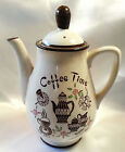 Vintage Coffee Time Tea Pot Server Japan Tilso Mid Century