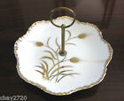 """VTG LEFTON HAND-PAINTED CANDY DISH WITH HANDLE """"GOLDEN WHEAT PATTERN"""", JAPAN"""