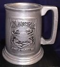 Vintage Wilton Armetale Pewter Stein Mug Tankard Beer Plough CANCER 16 oz USA