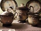 Rare Moriage Dragonware 18piece Tea Set/all signed/teapot/creamer/sugarbowl/etc.
