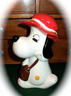 Vintage 1960's Japan Ceramic/Porcelain Snoopy Coin Bank...Too Cute!