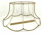 Lamp Shade Wire Frame Oval Scalloped Bell Bottom Original Binding