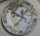 Lili American Atelier at Home Morning Song Porcelain Plate w/Blue bird