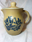 Phaltzgraff Folk Art Blue Bird Beverage Server 48 oz with lid 490 Made USA Beige