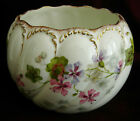 BODLEY Burslem Exquisitely Handpainted 1880's Vase, Fluted Swirls, Gold, Florals