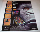 On Sale... CONGO By WILLIAMS 1995 ORIG NOS PINBALL MACHINE 28 X 22 PROMO POSTER