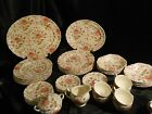 50 pc. Vintage Rose Chintz China by Johnson Bros. Older Mark  Made in England