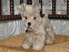 Old Antique Anker Germany Standing Mohair Poodle Dog 20 CM
