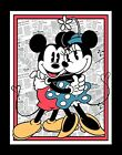 New Disney Mickey & Minnie Mouse Quilt top Wall hanging Panel Fabric 100% Cotton