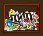 M&M's M and M's Chocolate Candy Quilt top Wall Hanging Panel Fabric 100& Cotton