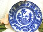 Adams China Dinnerware flow blue Kyber  Gold trim Luncheon Plate (small Chigger
