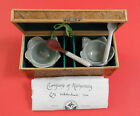 CERAMIC SPICE DISH AND SPOON SET VERY RARE COLLECTIBLE FROM PHILIPPINES w/ COA