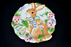 Fitz and Floyd Halcyon Collection Bunny Canape Plate Country Garden Easter