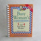 Busy Woman's Cookbook by Sharon and Gene McFall Like New 2001 Hardcover Spiral